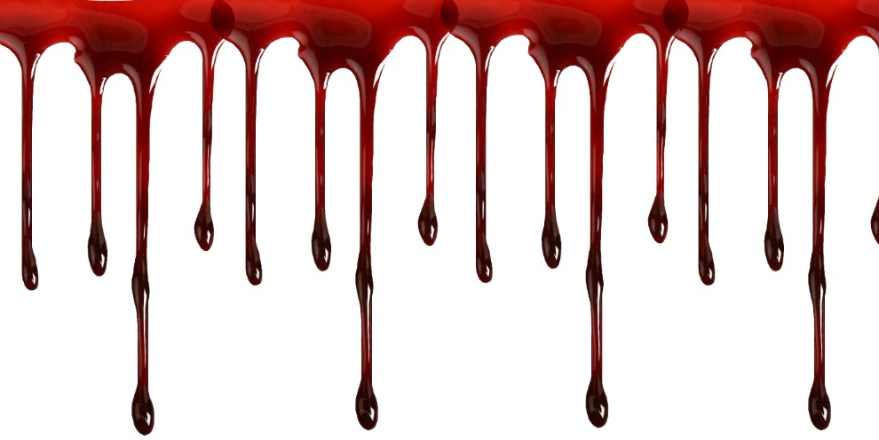 dripping blood clipart border free - photo #3